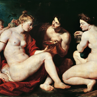 Венера, Купидон, Вакх и Церера