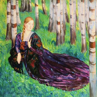 In a birch grove