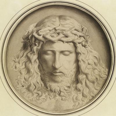 Федор (Фиделио) Антонович Бруни. Голова Христа в терновом венце