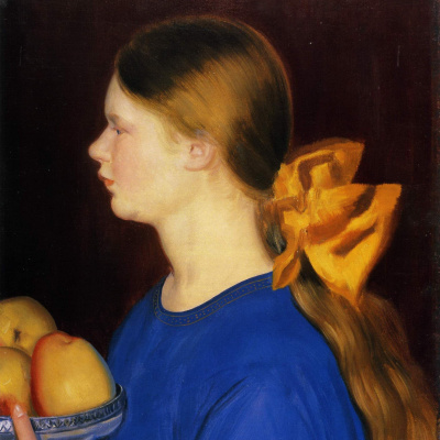 Девочка с яблоками. Портрет Ирины Кустодиевой, дочки художника