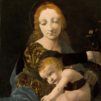 The virgin and child (Madonna of the Roses)