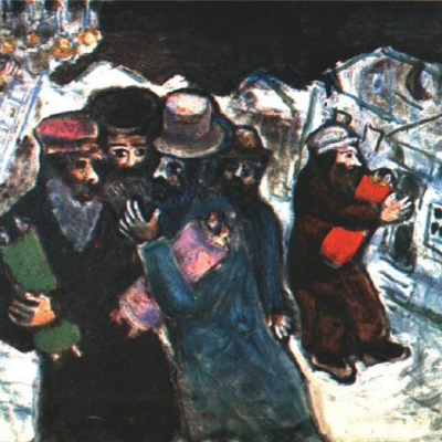 The return from the synagogue