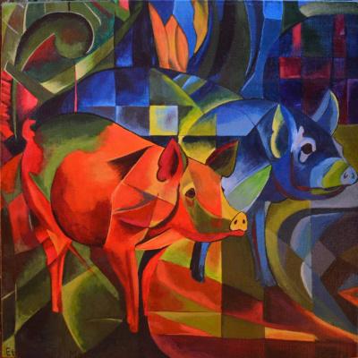 Franz Mark. Pigs
