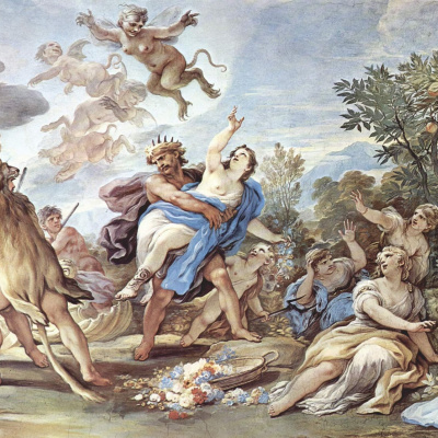 Frescoes in the gallery of the Palazzo Medici-Riccardi in Florence. Scene: The Abduction Of Proserpine