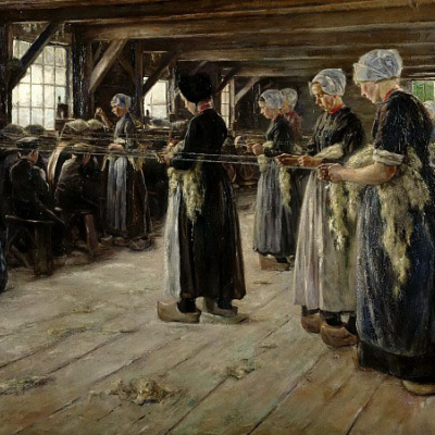 Linen manufactory in Lorena (flax Spinners)