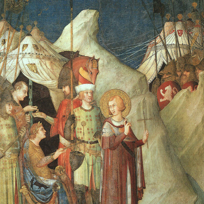 Saint Martin renounces the sword