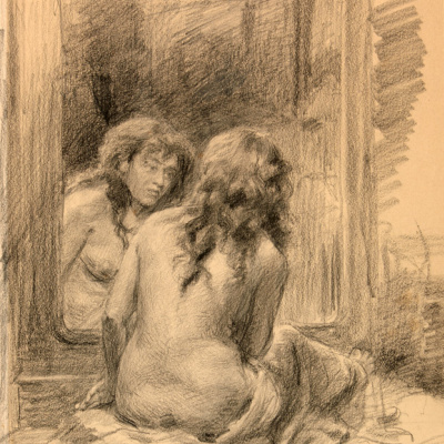 At the mirror. 1893