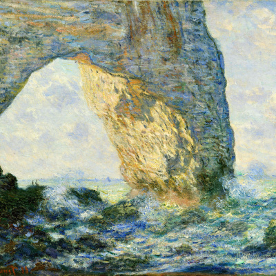 Arch to the West from Etretat