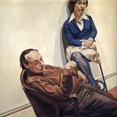 Филипп Перельштейн. Мужчина и женщина в синем свитере