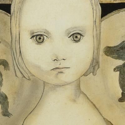 Портрет девочки с тарелками