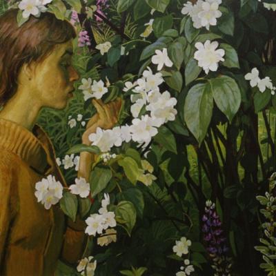 """Jasmine. Portrait of Olga Zhilinskaya"" 1978 Hardboard, tempera"