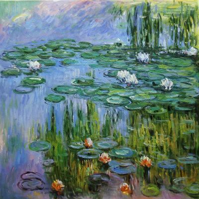 "Savely Kamsky. ""Water Lilies"", N2, a copy of Claude Monet's painting"
