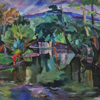 The quiet river. Shelestove