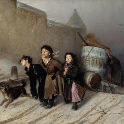 Тройка (Ученики мастеровые везут воду)