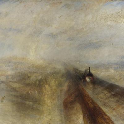 Rain, steam and speed. Great Western railway