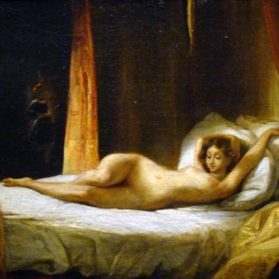 Naked girl and Valet