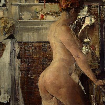 Nude in the bathroom