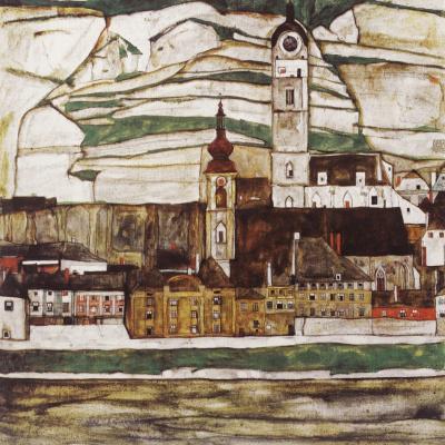 Эгон Шиле. Город Штайн на Дунае II