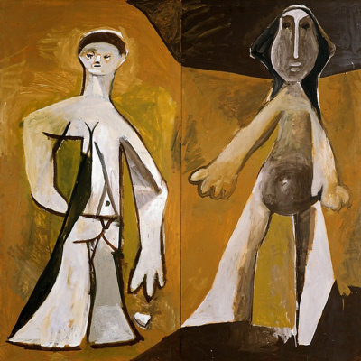 Pablo Picasso. Two characters standing