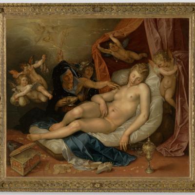 The Sleeping Danae Being Prepared to Receive Jupiter