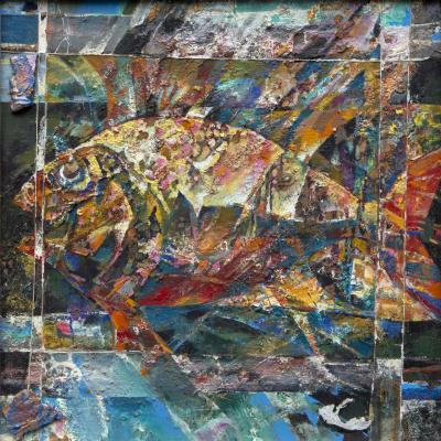 Rinat Salimzyanovich Khanafeev. Fish in net