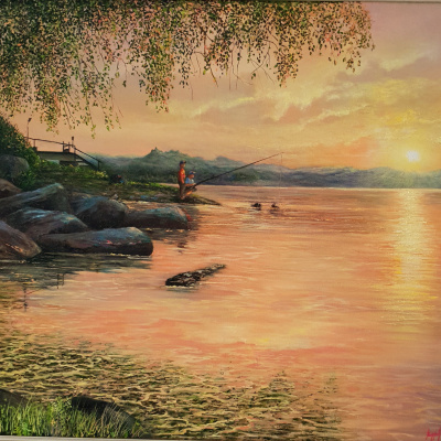 Fishing on the Yenisei