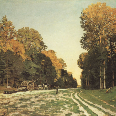 The road of Chailly in the forest of Fontainebleau