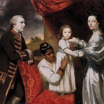 Портрет семьи Джорджа Клайва со служанкой-индианкой