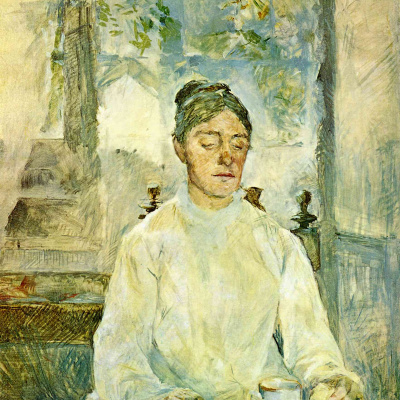 The artist's mother, the Countess Adele de Toulouse-Lautrec at Breakfast