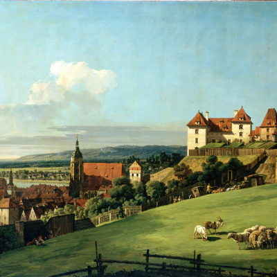 The view of Pirna from the Sonnenstein castle