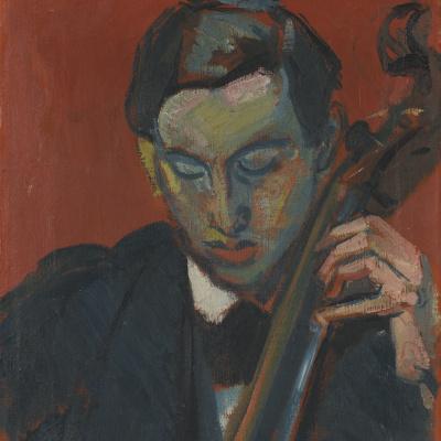 Cellist. Portrait Of Hans Munga