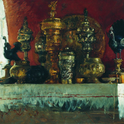 """Cups. Study for the painting """"a boyar wedding feast in the XVII century"""""""