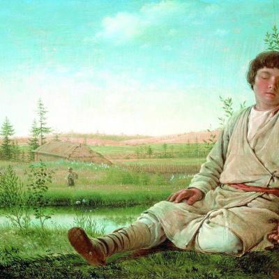 Sleeping shepherd boy