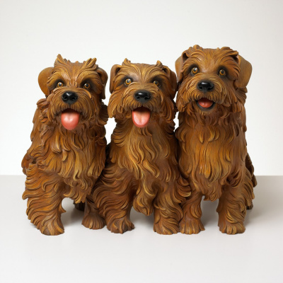 Jeff Koons. Three puppies