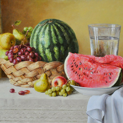 Still life with watermelon. 2013