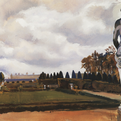 Versailles Park in autumn
