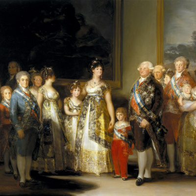 The king of Spain Charles IV and his family