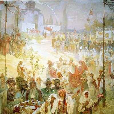Коронация сербского царя Стефана Уроша IV Душана как императора Восточной Римской империи