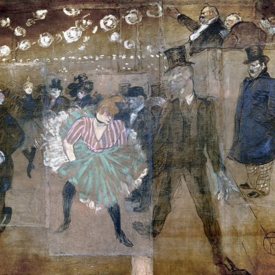 The Danse of La Goulue and Jacques Renaudin