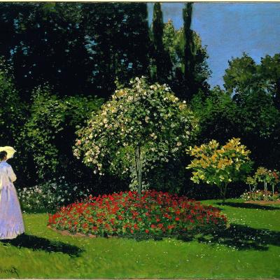 Lady in the garden Sainte-Adresse