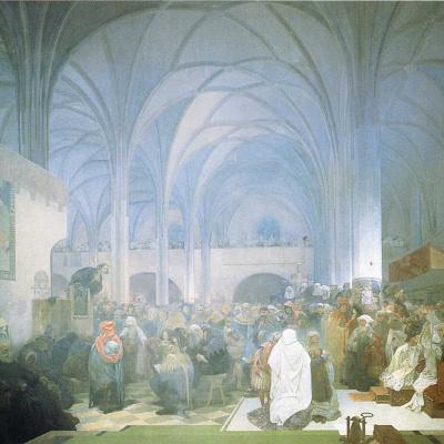 The preaching of Jan HUS in the Bethlehem chapel