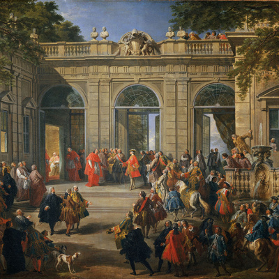 King Charles III visited Pope Benedict XIV in the Coffee pavilion for the Quirinale Palace