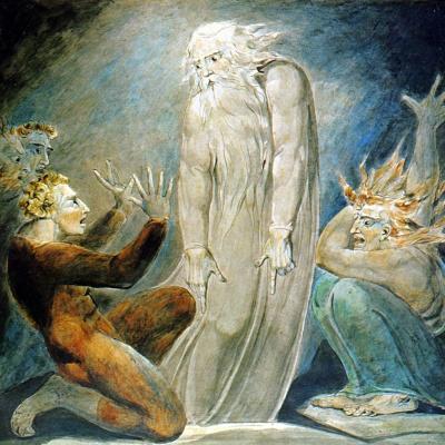 Иллюстрации к Библии. Призрак Самуила, появившийся Саулу