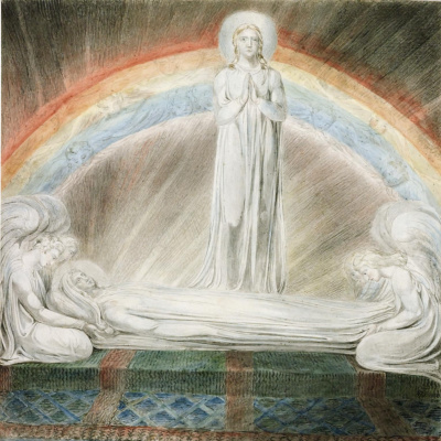 William Blake. Illustrations of the Bible. Assumption Of The Virgin