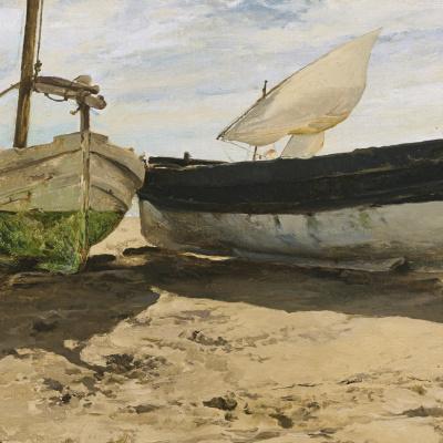 Fishing boats on the beach, Valencia