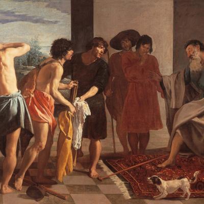 The bringing of Jacob's garment of Joseph