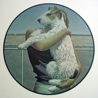 Alex Colville. Woman and terrier