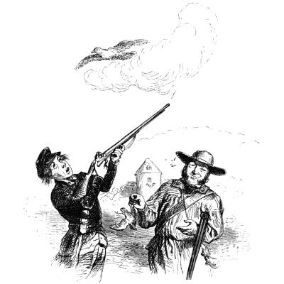 """A series of """"Hundred Proverbs"""". A sparrow in the hands is better than a dove in the sky (Tit in the hand is better than a crane in the sky)"""