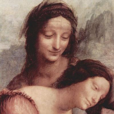 Мадонна с младенцем и Святой Анной (фрагмент)