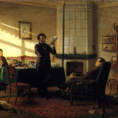 Alexander Sergeevich Pushkin in the village of St.
